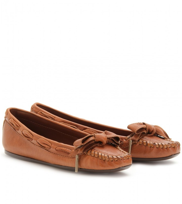 Burberry London LEATHER MOCCASINS