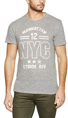 Unisex Cheap Sale View Mens Crewneck Tee W. Printed Stripe T-Shirt Tom Tailor Denim iYDMiFF