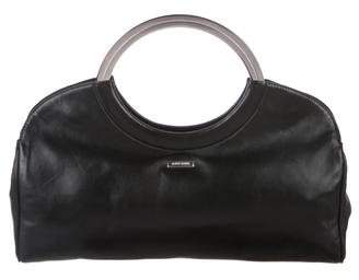 Giorgio Armani Woven Leather Handle Bag