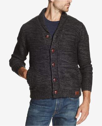 Weatherproof Vintage Men's Two-Tone Sweater Jacket