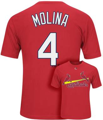 Majestic Men's St. Louis Cardinals Yadier Molina Player Name and Number Synthetic Tee