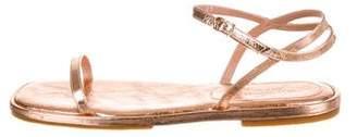 Dries Van Noten Metallic Leather Sandals w/ Tags