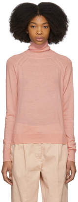 Acne Studios Pink Nheri Sheer Turtleneck