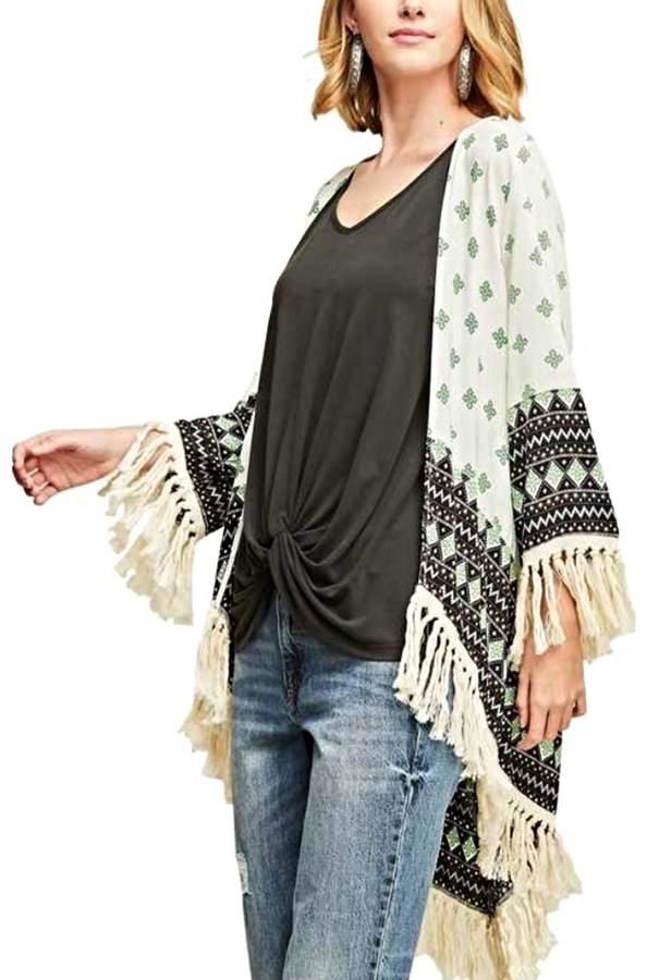 Aztec Fringe Kimono