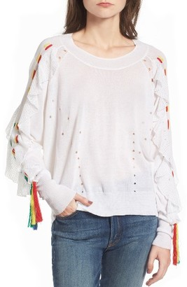 Women's Wildfox Diez Ruffle Sweater $188 thestylecure.com
