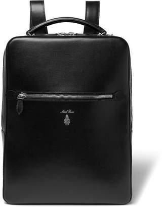 36a672cd0 Mark Cross Alexander Cross-Grain Leather Backpack - Men - Black