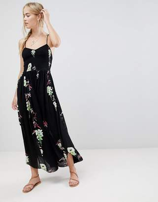 Free People Beau printed midi dress