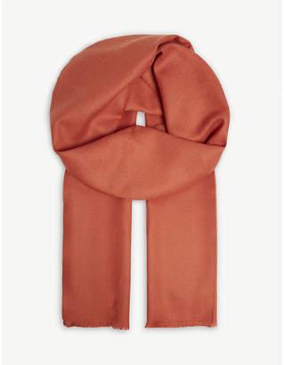 Johnstons Tartan extra-fine merino-wool scarf