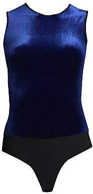 Commando Women's Roundneck Velvet Bodysuit