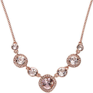 Givenchy Rose Gold-Tone Blush Stone Statement Necklace