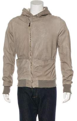 Giorgio Brato Hooded Leather Jacket