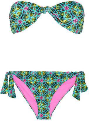 Matthew Williamson Printed Bandeau Bikini - Green