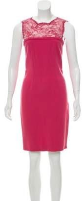 Emilio Pucci Lace-Paneled Wool Dress w/ Tags