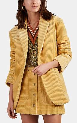 Land of Distraction Women's Tommy Corduroy Oversized Jacket - Yellow