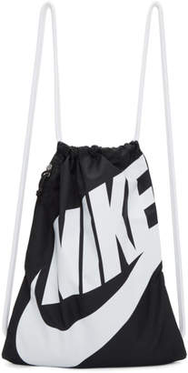 Nike Black Heritage Logo Gym Backpack
