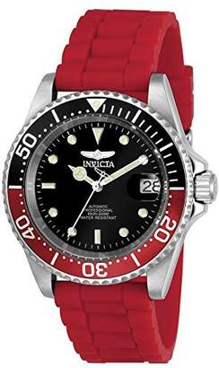 Invicta Men's 'Pro Diver' Automatic Stainless Steel and Silicone Diving Watch