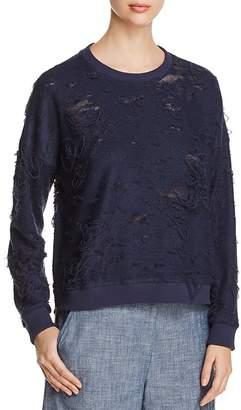 Kenneth Cole Boxy Distressed Sweatshirt