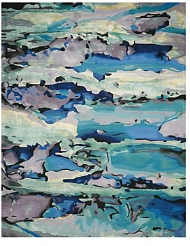 Prismatic Rug - Abstract Seaglass, 5'6 x 7'5