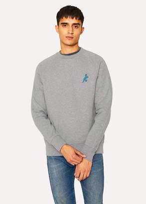 Paul Smith Men's Grey Cotton Embroidered 'Dino' Sweatshirt