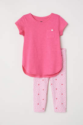 H&M Jersey Top and Leggings - Pink