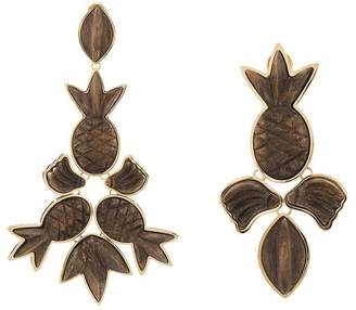 OSKLEN x Tarsila pineapple charm drop earrings