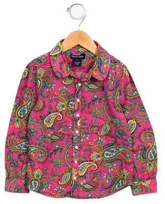 Ralph Lauren Girls' Paisley Button-Up Top