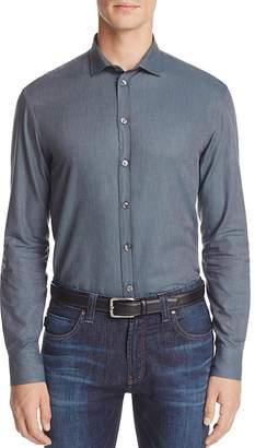 Armani Collezioni Solid Classic Fit Button-Down Shirt