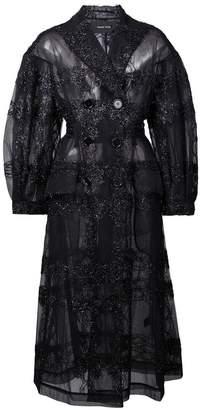 Simone Rocha midi sheer coat