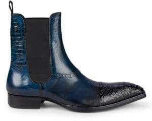 Jo Ghost Cap Toe Leather Chelsea Boots