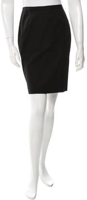 Jean Paul Gaultier Wool Pencil Skirt $85 thestylecure.com