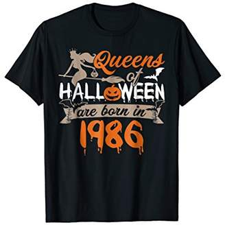 32nd Birthday Queens Of Halloween Are Born In 1986 T-shirt