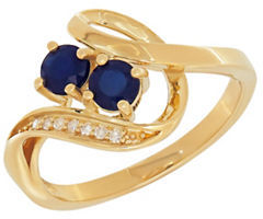 Lord & Taylor Diamonds, Sapphire and 14K Yellow Gold Ring $925 thestylecure.com