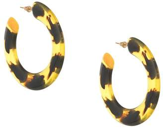 Cult Gaia tortoise effect hoop earrings