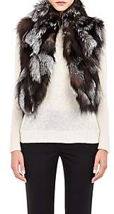Barneys New York Women's Patchwork Fur Vest-Brown, Grey