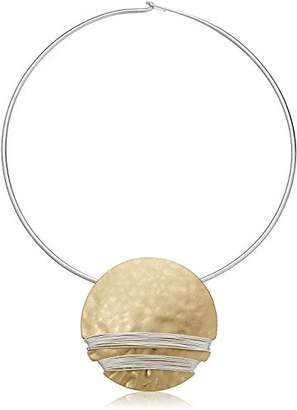 Robert Lee Morris Wire Wrapped Round Collar Pendant Necklace
