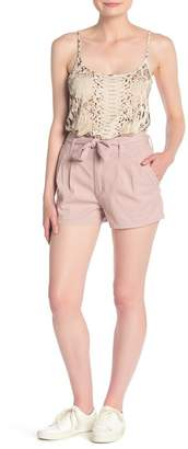 UNIONBAY High Waist Belt Shorts