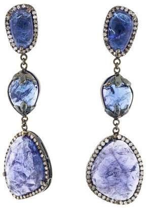 Bochic 18K Tanzanite & Diamond Drop Earrings