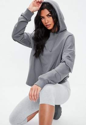 Missguided Military Pocket Sleeve Hoodie