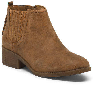 Non-marking Leather Booties