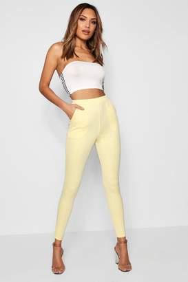 boohoo Scuba Skinny Stretch Trousers