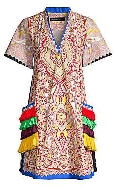 Etro Women's Fringe Pocket Paisley Print Dress
