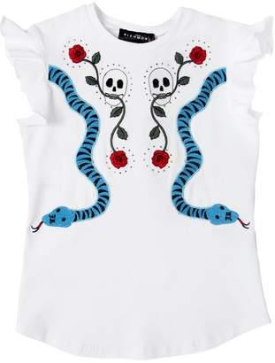 John Richmond Cotton Jersey T-Shirt W/ Patches