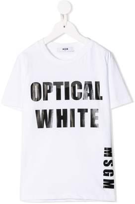 MSGM Kids Optical White T-shirt