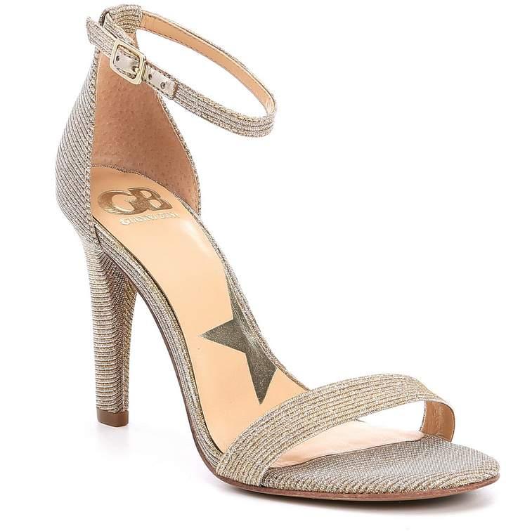 Gb GB Ella-Quent Fabric Ankle Strap Dress Sandals