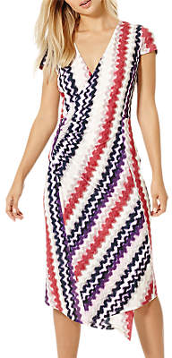 Damsel in a Dress Dashi Print Wrap Dress, Multi