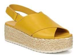 Vince Jesson Leather Slingback Espadrilles