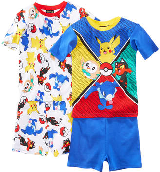 Pokemon 4-Pc. Pokeball Cotton Pajama Set, Little Boys & Big Boys