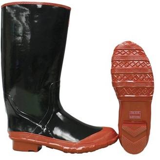 "Boss Gloves 2KP52216 Size 6 15"" Black Rubber Over-The-Shoe Slush Knee Boots"