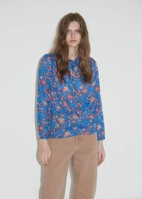 Etoile Isabel Marant Maria Floral Cotton Voile Top