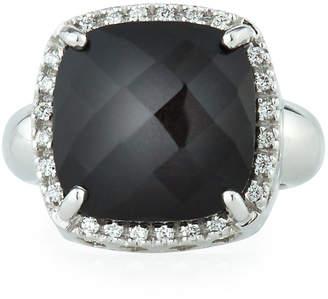 Zoccai 18k White Gold Onyx & Diamond Ring, Size 7